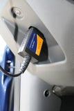 Verbundener Armaturenbrett der Prüfeinrichtungsschnittstelle des Autos OBD2 Stockfoto