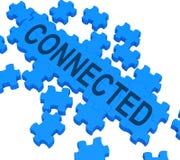Verbundenes Puzzlespiel, das globale Kommunikationen zeigt Stockbilder