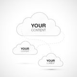 Verbundenes Wolkendesign für Ihren Inhalt Stockfotos