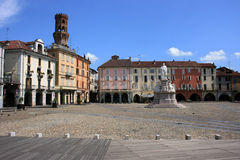 Vercelli. A wiew on the Cavour Place in Vercelli Stock Images