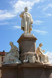 Vercelli. Details of the Camillo Benso count of Cavour  in Vercelli Royalty Free Stock Photo