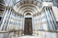 Vercelli, Kirche von Sant'Andrea Stockbilder