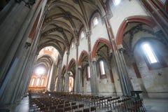 Vercelli, kościół Sant'Andrea Fotografia Royalty Free