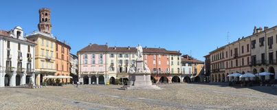 Vercelli, Piazza Cavour Royalty Free Stock Images