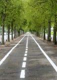 Vercelli, Radfahrenweg Stockfotografie