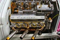 Verchroomd Cadillac v8 royalty-vrije stock foto