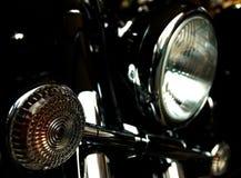 Verchroomde motorfietskoplampen Stock Afbeelding