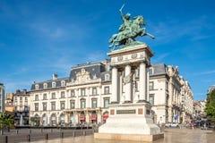 Vercingetorixgedenkteken op de Jaude-plaats van Clermont-ferrand in Frankrijk royalty-vrije stock foto