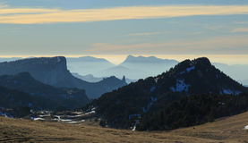 Vercors sunset Royalty Free Stock Photography