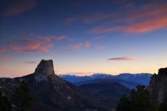 Vercors wschód słońca Obrazy Royalty Free