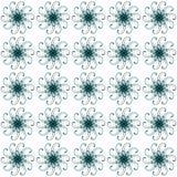 Verctor seamless pattern with abstract ornament. Vector seamless pattern with abstract ornament. Pattern with round ornaments on white background. Original Stock Photos