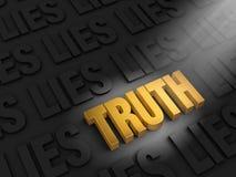 Verdad del hallazgo entre mentiras Imágenes de archivo libres de regalías