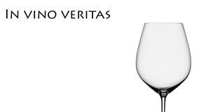 Verdad en vino Imagen de archivo libre de regalías
