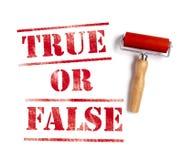 Verdad o falso Foto de archivo libre de regalías