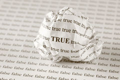 Verdad o falso imagen de archivo libre de regalías