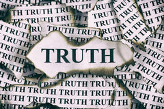 Verdad quemada Fotografía de archivo libre de regalías