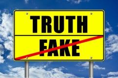 Verdade ou falsificação ilustração stock