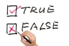 Verdadeiro ou falso Imagens de Stock Royalty Free