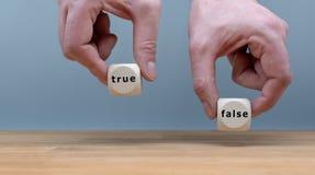 Verdadeiro ou falso? imagens de stock royalty free