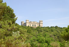 Verdala Palace. On Malta, seen through the green of the small forest - Buskett Royalty Free Stock Images