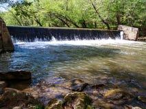 Verdammung auf Dan River in Collinstown, North Carolina lizenzfreies stockfoto
