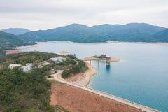 Verdammung des hohen Insel-Reservoirs lizenzfreies stockfoto