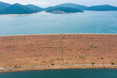 Verdammung des hohen Insel-Reservoirs stockbilder