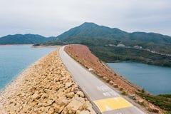 Verdammung des hohen Insel-Reservoirs lizenzfreies stockbild