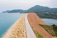 Verdammung des hohen Insel-Reservoirs stockbild
