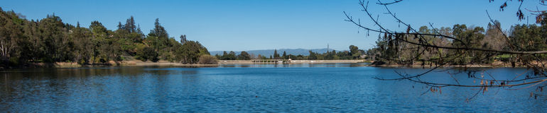 Verdammung und Reservoir Vasona stockbilder