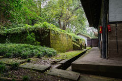Verdant green before ancient Chinese building Royalty Free Stock Photography