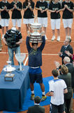 Verdasco with trophy Stock Photography