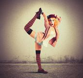 Överdådig clown Royaltyfri Fotografi