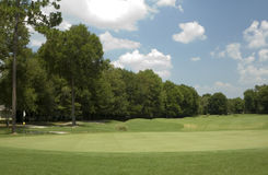 Verde 1 di golf immagini stock