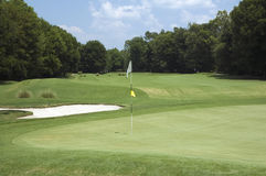 Verde 2 del golf imágenes de archivo libres de regalías