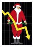 Verde 2_Unemployed Santa 2 di Al di Babbo Natale Immagini Stock Libere da Diritti