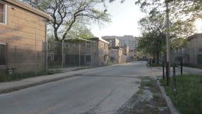 Verde abandonado de Cabrini, Chicago almacen de video