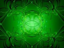 Verde abstracto del fondo ilustración del vector
