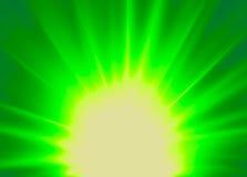 Verde abstracto del fondo del rayo Fotografía de archivo libre de regalías