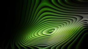 Verde abstracto e imagen de fondo negra de la ondulación de la curvatura ilustración del vector