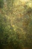 Verde abstracto y oro Grunge Foto de archivo