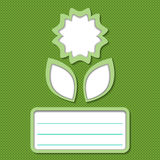Verde abstrato do cartão da flor Imagem de Stock