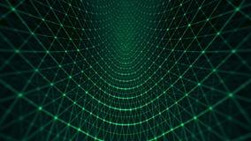 Verde abstrato do espaço da grade do poligonal do triângulo ilustração do vetor