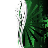Verde adornado hermoso del fondo Fotos de archivo libres de regalías