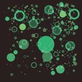 Verde al azar de la burbuja ilustración del vector