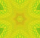 Verde amarillo centrado inconsútil del ornamento de la estrella libre illustration