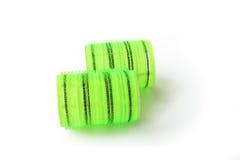 Verde amarillo de los rodillos del pelo Imagen de archivo