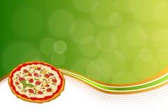 Verde anaranjado del fondo de la pizza abstracta de los alimentos de preparación rápida Foto de archivo libre de regalías