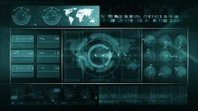 Verde astratto del CICLO del fondo di tecnologia archivi video