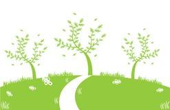 Verde astratto dell'illustrazione dell'albero Fotografia Stock